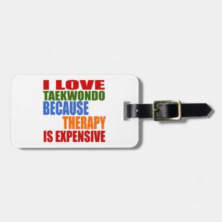 Taekwondo Is My Therapy Luggage Tag