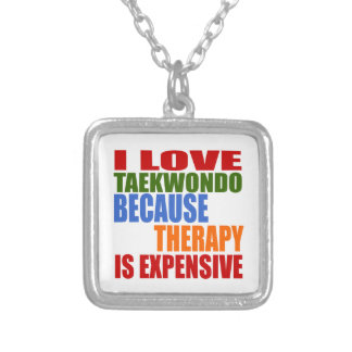 Taekwondo Is My Therapy Silver Plated Necklace