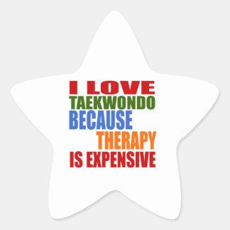 Taekwondo Is My Therapy Star Sticker
