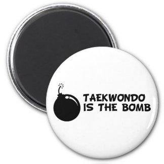 Taekwondo is the Bomb 2 Inch Round Magnet