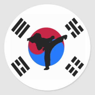 Taekwondo Kicker Stickers