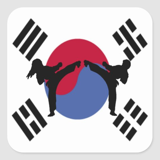 TaeKwonDo Kickers rectangle stickers