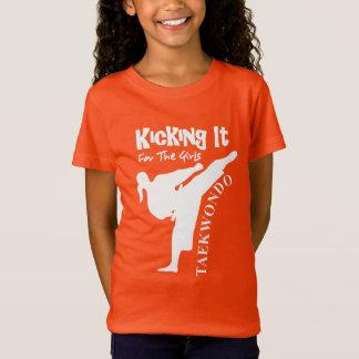 Taekwondo Kicking It For The Girls Cute Graphic T-Shirt