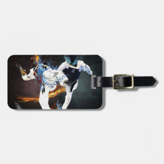 taekwondo luggage tag