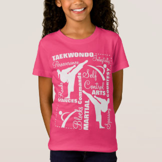 Taekwondo Martial Arts Terminology Typography T-Shirt