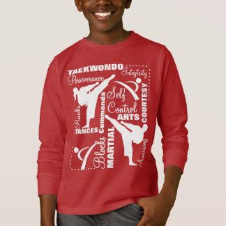 Taekwondo Martial Arts Terminology Typography T-Shirt