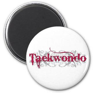 Taekwondo Red 2 Inch Round Magnet