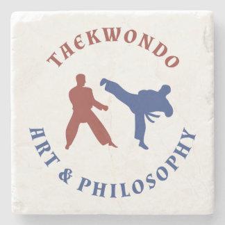Taekwondo Red and Blue Stamp Stone Coaster