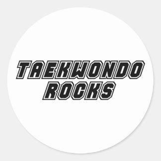 Taekwondo Rocks Classic Round Sticker