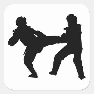 Taekwondo Square Glossy Sticker