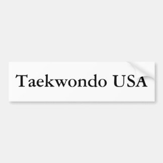 Taekwondo USA Bumper Sticker