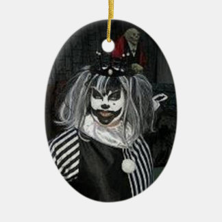Taffy the Klown Ceramic Oval Ornament