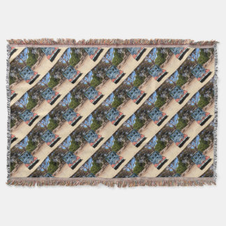Taffy, Train Engine Locomotive 2 Throw Blanket