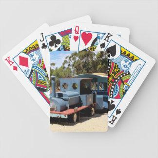 Taffy, train engine locomotive bicycle playing cards