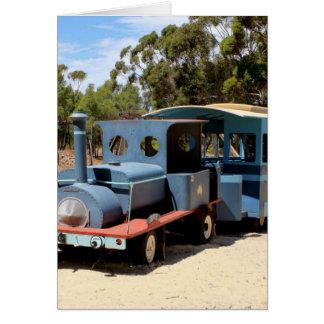Taffy, train engine locomotive card