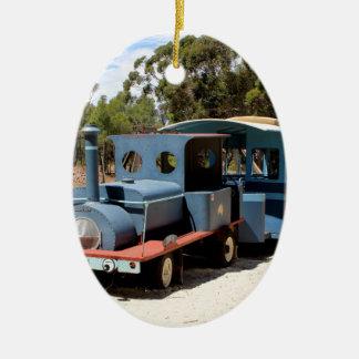 Taffy, train engine locomotive ceramic ornament