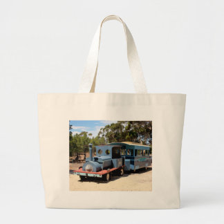 Taffy, train engine locomotive large tote bag