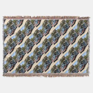 Taffy, train engine locomotive throw blanket
