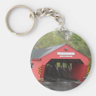 Taftsville Covered Bridge Vermont Keychains