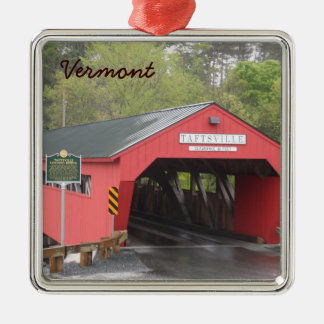 Taftsville Covered Bridge, Vermont Metal Ornament