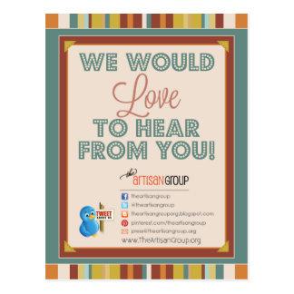 TAG GG Press Postcard