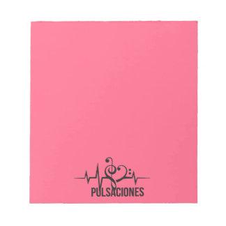 Tag Pink Pulsations Notepad