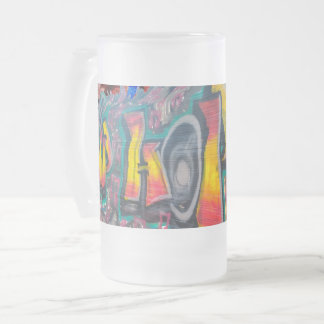Tag Wall Frosted Glass Beer Mug