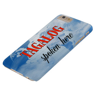 Tagalog spoken here cloudy earth barely there iPhone 6 plus case
