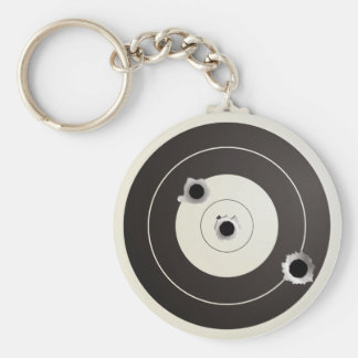 Taget shooting basic round button keychain