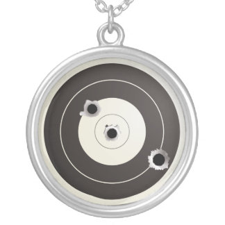 Taget shooting silver plated necklace