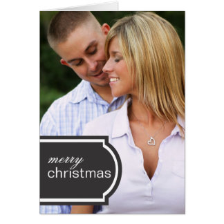 Tagged Folded Holiday Card (black)