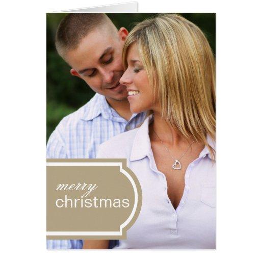 Tagged Folded Holiday Card (khaki)