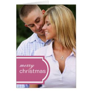 Tagged Folded Holiday Card (raspberry)