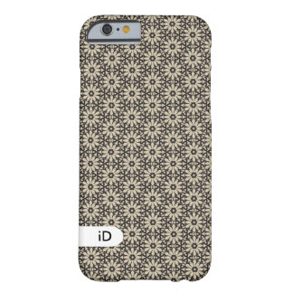 TAGGED | geometric floral pattern with initials Barely There iPhone 6 Case