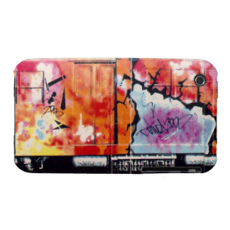 Tagged Up Subway Train Blackberry Curve Case-Mate  iPhone 3 Case
