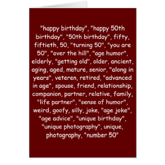 TAGGING YOUR 50TH BIRTHDAY! CARD