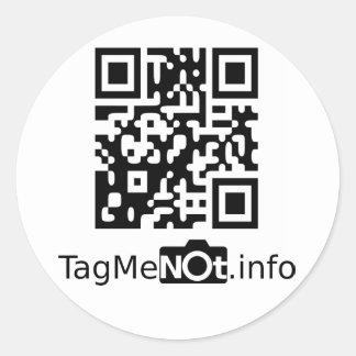 TagMeNot Round Sticker
