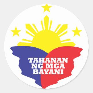 Tahanan Ng Mga Bayani Classic Round Sticker