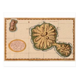 Tahiti 1769 postcard