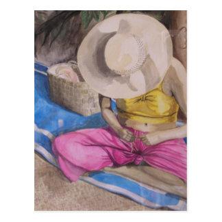 Tahiti Basket Weaver Postcard