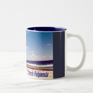 Tahiti French Polynesia Two-Tone Coffee Mug