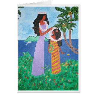 Tahiti Girls Card