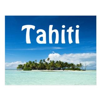 Tahiti island text postcard