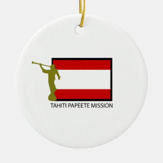 TAHITI PAPEETE MISSION LDS CTR CERAMIC ORNAMENT