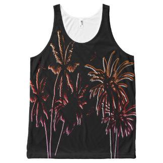 Tahiti Sunset Palm Trees Black Night Tropical