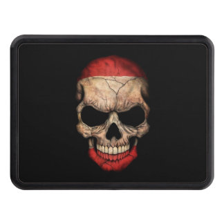 Tahitian Flag Skull on Black Hitch Cover