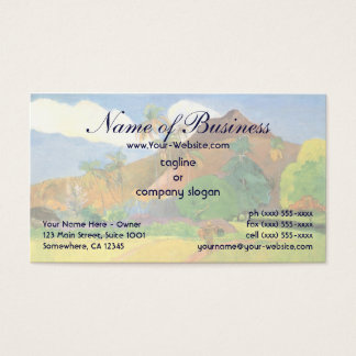 Tahitian Landscape, Mountains Tahiti, Paul Gauguin Business Card