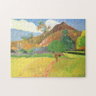 Tahitian Landscape, Mountains Tahiti, Paul Gauguin Jigsaw Puzzle