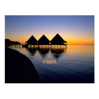 Tahitian Sunset Postcard