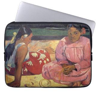 Tahitian Women on the Beach - Paul Gauguin Laptop Sleeve